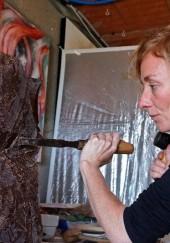 Sculpture en chocolat de Myr